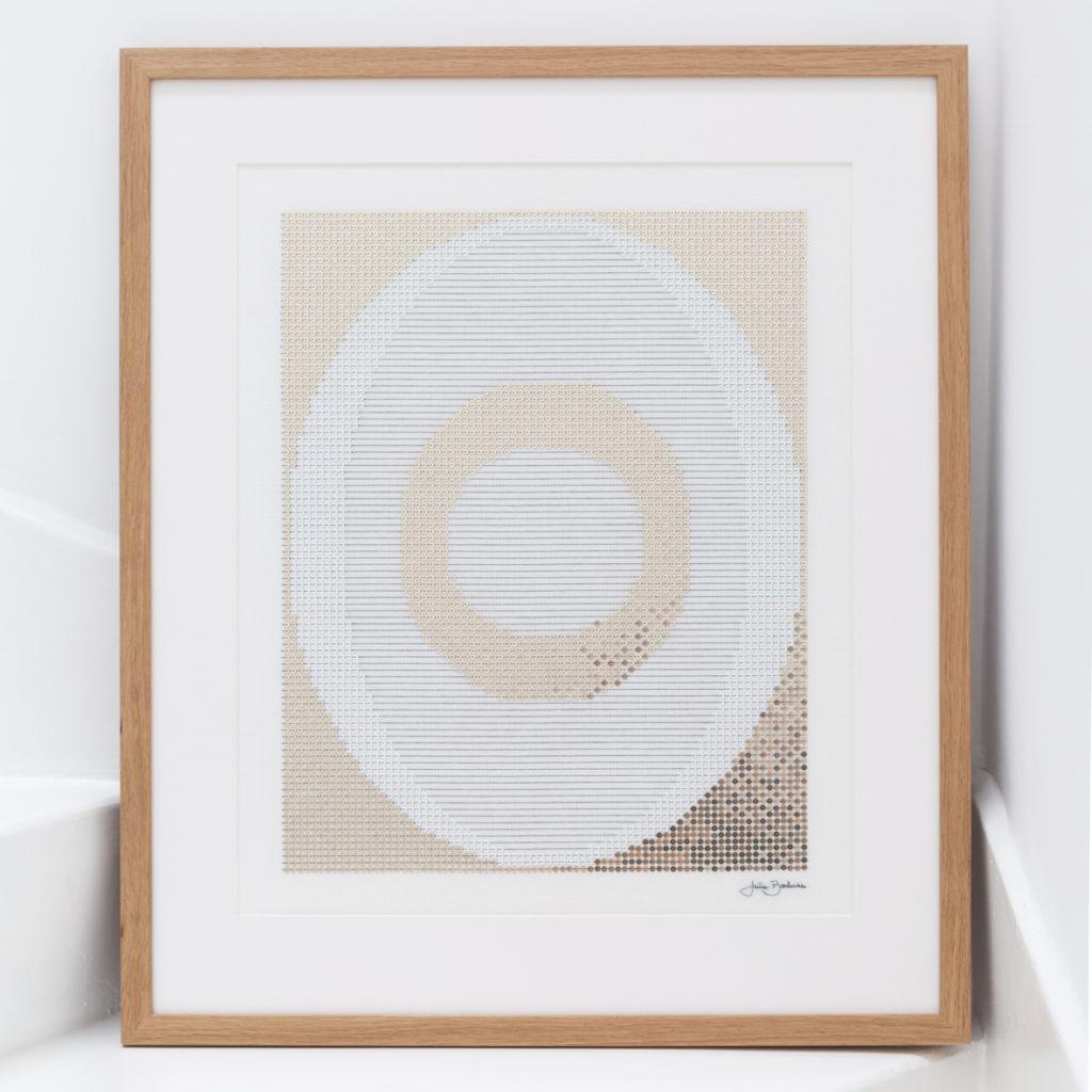 Tableau blanc et or